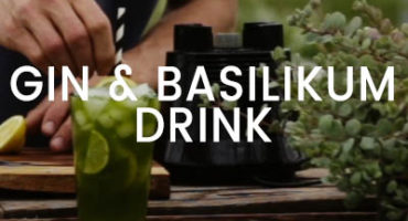 Gin & Basilikum drink med Greenify