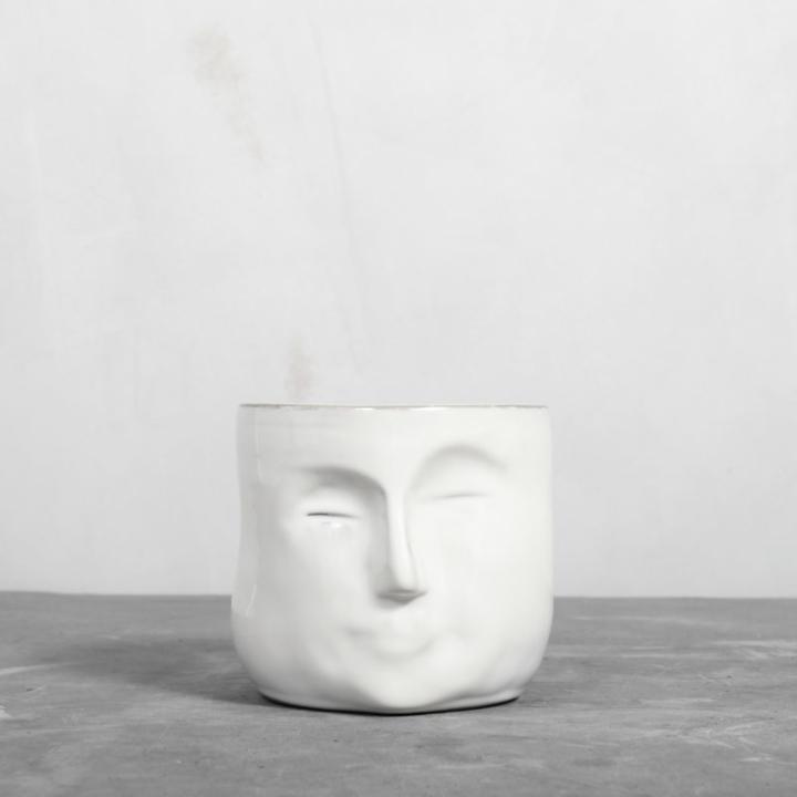 Hvid Ansigtskrukke fra Greenify